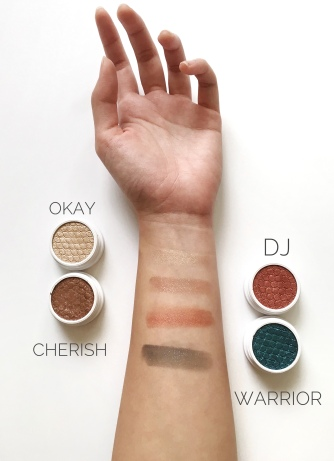 Delilah x Colourpop swatches