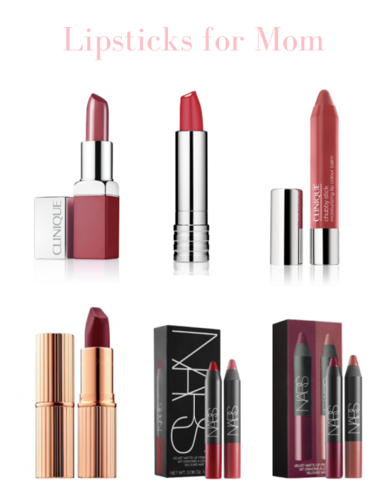 Lipstick ideas from Clinique, Charlotte Tilbury and NARS for Mother's Day
