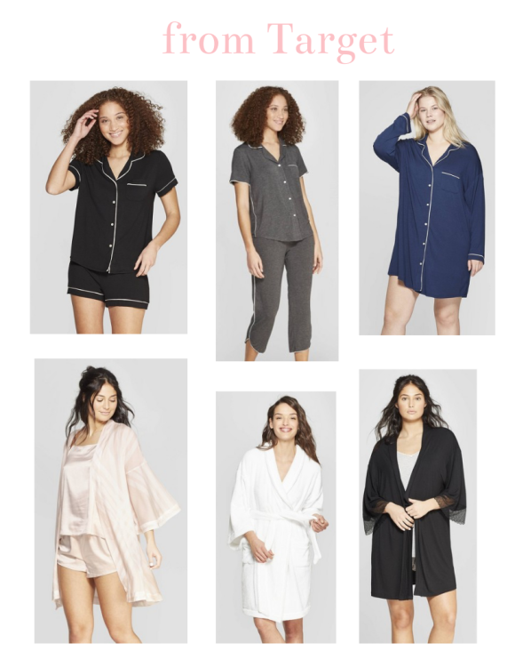 3 pajamas and 3 robe ideas to gift mom's for Mother's Day from Target