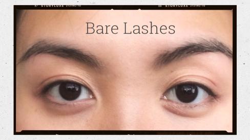 Eyes without mascara