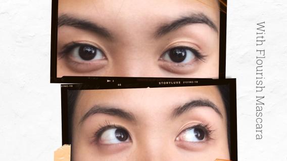 Eyes using Flourish mascara