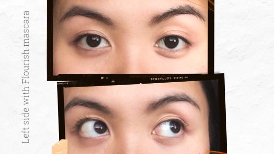 Left eye with mascara