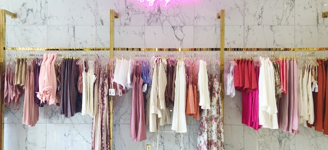 Miss Robinson Fashion House clothing rack